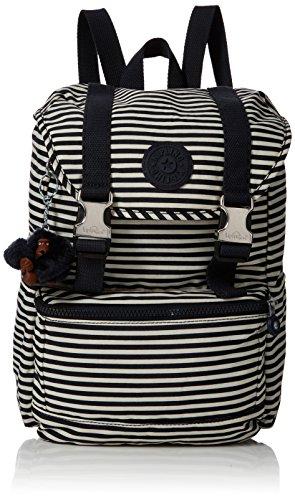 Kipling Experience S, Mochila para Mujer, Multicolor (Marine Stripy), 15x24x45...