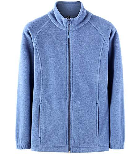 LAPASA Damen Fleecejacke Innenfleece Full Zip Stehkragen Tasche Trekking Wandern MEHRWEG L019 (XL/38 (letzter Abbildung zufolge), Blau)