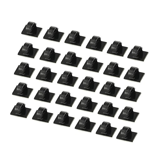 proster-30-pcs-car-cable-ties-self-adhesive-cable-clips-plastic-rectangle-car-cable-holder-wire-clip