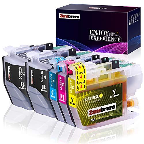 Zambrero LC3219XL LC3219 XL Patronen Ersatz für Brother LC3219 LC3217 Druckerpatronen Kompatibel mit Brother MFC-J5330DW MFC-J6930DW MFC-J5335DW MFC-J5730DW MFC-J6530DW MFC-J6935DW MFC-J5930DW