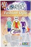 Orbis Airbrush, Orbis-Schablonenset Fashion Style, Airbrush-Schablonen für alle Untergründe geeignet, 5 detailreiche Schablonen aus strapazierfähiger Folie, werde zur Mode-Designerin - 30210