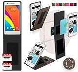 reboon Hülle für Oppo Mirror 3 Tasche Cover Case Bumper | Braun Wildleder | Testsieger