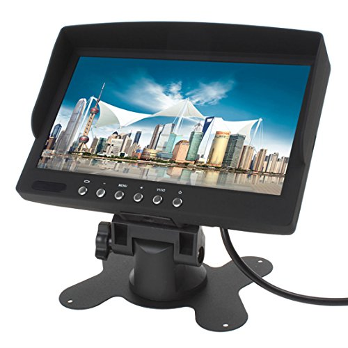 "LeaningTech Nuevo 7"" LCD TFT 400 cd FPV Aerial Photography monitor de pantalla 800x480 HD LCD TFT fotografía Car Coche Portátil"