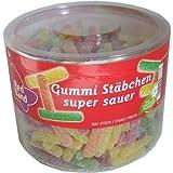 Unbekannt Red Band - Gummi-Stäbchen - Super Sauer - Dose