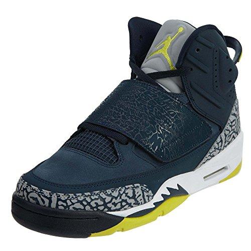 Nike, Air Jordan, Herren-Turnschuhe, 512245, - Armory Navy/Electrolime-white - Größe: 23 EU M Großes Art - Basketball-schuhe Jungen Größe Nike 6