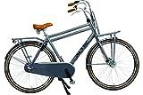 28 Zoll Herren Holland Fahrrad 3 Gang Hoopfietsen Altec Retro, Farbe:grau, Rahmengröße:53cm