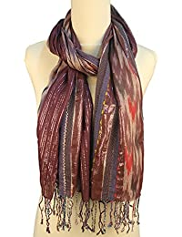 Vozaf Women's Viscose Shawls - Maroon And Grey