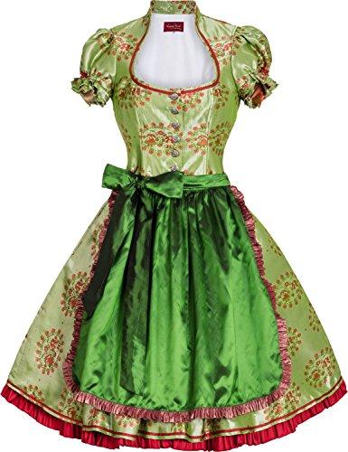 """Designer Traumdirndl """"Dominique"""" (grün-rot)"""
