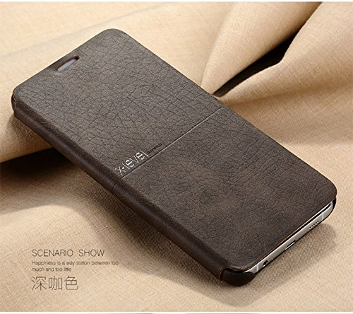 Extreme Series Soft Leather Flip Case Cover For Samsung Galaxy S7 Edge – Coffee Brown