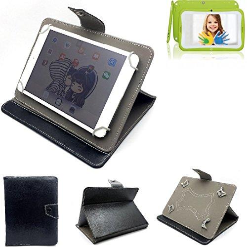 K-S-Trade Schutz Hülle Tablet Case für Blaupunkt 4Kids, schwarz. Tablet Hülle mit Standfunktion Ultra Slim Bookstyle Tasche Kunstleder