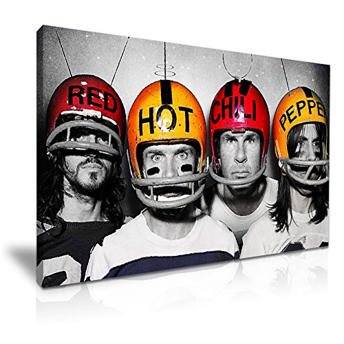 Red Hot Chili Peppers Rock Music Band Leinwand modernes Wandtattoo Art 76x 50cm Red Pepper Lack