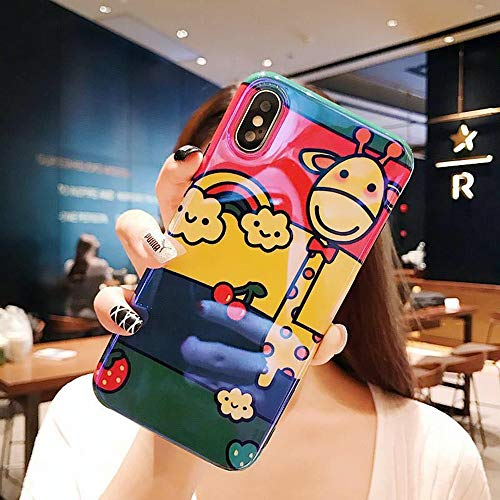 6 X 6 Fawn (Cimic iPhone Fall Cartoon Fawn Fall Protection Case FüR iPhone 6 / 7plus / 7 / 7plus / 8 / 8plus / X/XS/XR/XSmax,iPhoneX/XS)