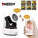 TMEZON Caméra de sécurité sans fil Wifi IP 1080P Système de surveillance domestique intérieur Système d'écoute pour bébé 2 voies audio, webcam de jour / nuit
