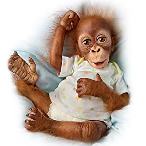 Ashton Drake Baby Babu Lifelike Baby Orangutan Doll By