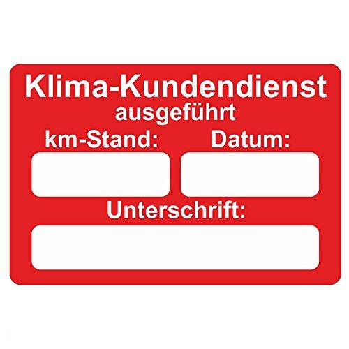Preisvergleich Produktbild KFZ Serviceaufkleber / Inspektionsaufkleber 60 x 40 mm - 250 Stück - verschiedene Varianten (Klima-Kundendienst)