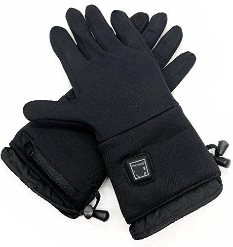 Beheizbare Handschuhe Unterziehhandschuhe mit 3 Stufen Temperaturregler,, Akkubetrieb (L-XL)