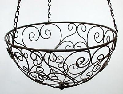 2er Set Blumenampel, Hängekorb Eisen, Landhaus Ø 35 und 30 cm von crafts & design auf Du und dein Garten
