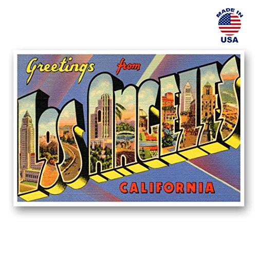 Kalifornien Post (Grüße von Los Angeles Vintage Nachdruck-Postkarten-Set von 20identische Postkarten. Groß Los Angeles, Kalifornien Stadt und Staat Namen Post Card Pack (ca. 1930's-1940's). Hergestellt in Den USA.)