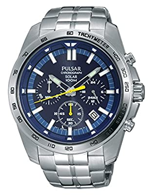Pulsar Reloj Unisex de Analogico con Correa en Chapado en Acero Inoxidable PZ5001X1 de Pulsar