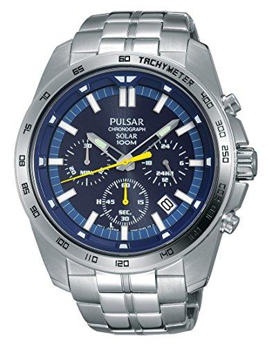 Pulsar Reloj Unisex de Analogico con Correa en Chapado en Acero Inoxidable PZ5001X1