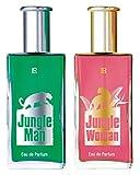 NB24 Versand LR Jungle Set Eau de Parfum for Man, 50 ml + Eau de Parfum for Woman, 50 ml (30481-1)