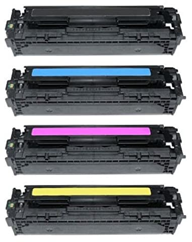 Pack 4 INK INSPIRATION® Compatibles Toner Laser pour HP LaserJet Pro 200 Color M251n, M251nw, MFP M276n, MFP M276nw, Canon LBP-7100CN, LBP-7110CW, MF-8230CN, MF-8280CW | Remplacement pour HP 131X 131A (CF210X, CF211A, CF212A, CF213A) | Noir: 2400 Pages & Cyan/Magenta/Jaune: 1800 Pages