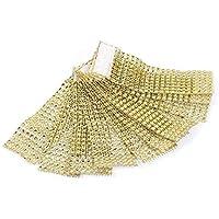 100pcs servilleteros de mesa servilletero anillo Diamante cinta de bobina con cierre decoración para Navidad Fiesta Boda
