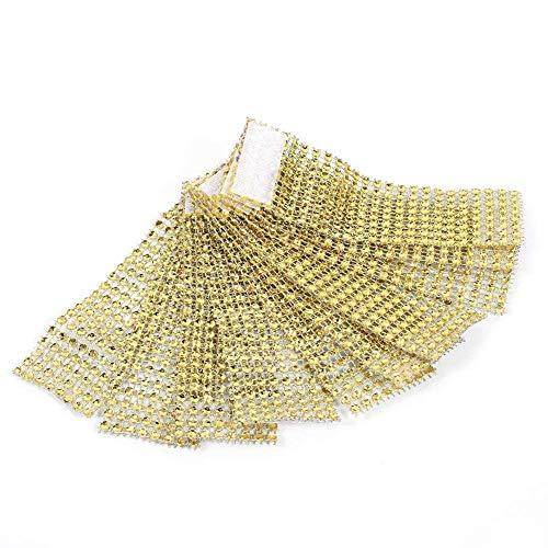50Pcs Ronds de serviette table Porte-serviettes Bague Diamant ruban d'enroulement avec fermeture déco pour Noël fête mariage …