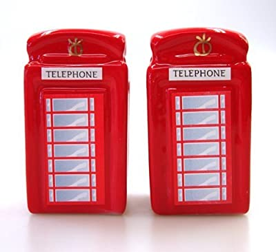 Traditional Red Ceramic Telephone Box Cruet Set from Elgate