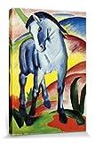 1art1 57252 Franz Marc - Blaues Pferd I, 1911 Poster Leinwandbild Auf Keilrahmen 120 x 80 cm