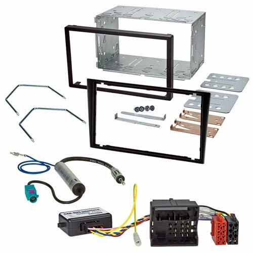 Einbauset (Radioblende mit Einbauschacht + CAN-Bus Interface + Radioadapter) passend für OPEL Corsa C Combo Agila Vectra C Omega B Meriva
