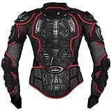 Ropa resistente a los golpes caballero de la armadura para ropa resistente a los golpes del deporte de la motocicleta para el equipo de deportes al aire libre rojo M