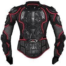 Ropa resistente a los golpes caballero de la armadura para ropa resistente a los golpes del deporte de la motocicleta para el equipo de deportes al aire libre rojo XXL