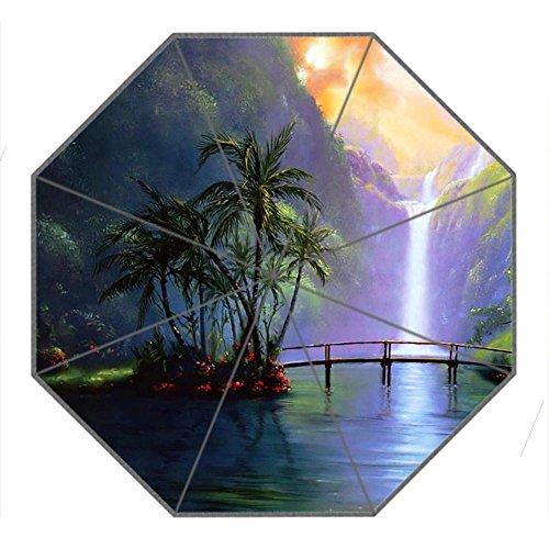 Kundenspezifischer automatischer faltbarer Umbrella Diy personifizierter Entwurf beweglicher Reise-Regenschirm f¨¹r Sonne und Regen