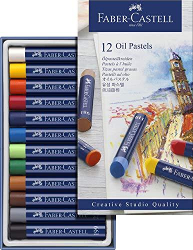 Faber-castell 127012 pastelli ad olio, 12 pezzi