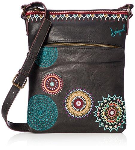 Desigual Damen Handtasche Tasche Schultertasche SIARA GHANA Schwarz 18WAXPBG-2000