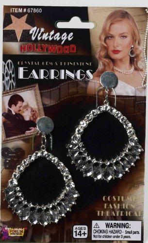 Forum Vintage Hollywood Rhinestone and Crystal Gemmed Oval Kostüm Kristall