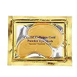 BF Kristall Crystal Gold Collagen Gold Powder Eye Masken–10x Stück antifaltencremes Anti-Gel-Aufnäher mit Maske Gesicht Feuchtigkeitspflege