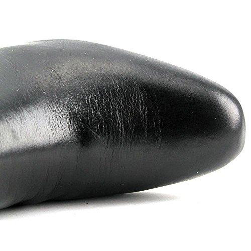 Anne Klein Camden Cuir Botte Black
