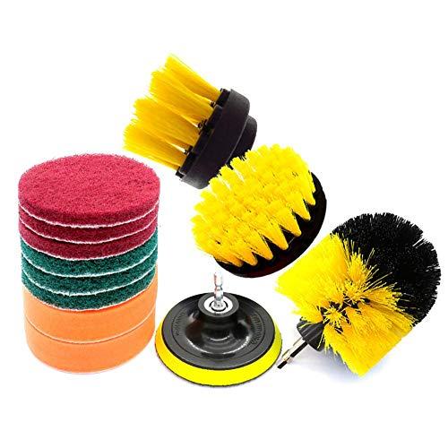 Finelyty 12 STÜCKE / 3 STÜCKE Bohrer Peeling Pinsel Aufsatz Kit, Zeitsparende Kit Und Power Scrubber Reinigungsset FÜR Auto Bad Wäsche Reinigung -