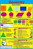 laminated GEOMETRY educational poster maths numeracy teaching resource , ks2 ks3 wall chart