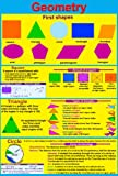 laminated GEOMETRY educational poster maths numeracy teaching resource , ks2 ks3 wall chart