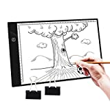 NONZERS A4 Leuchttisch,Leuchtplatte Leuchtkästen mit USB Kabel,Touch-Steuerung Stufenloses Dimmen,Tragbare Zeichnen Light Pad für Kopieren Zeichnen,Skizzieren,Stencilling,Röntgenbildbetrachtung,usw