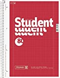 Brunnen 1067928 Notizblock / Collegeblock Student (A4, kariert, Lineatur 28, 70g/m², 80 Blatt) (10)