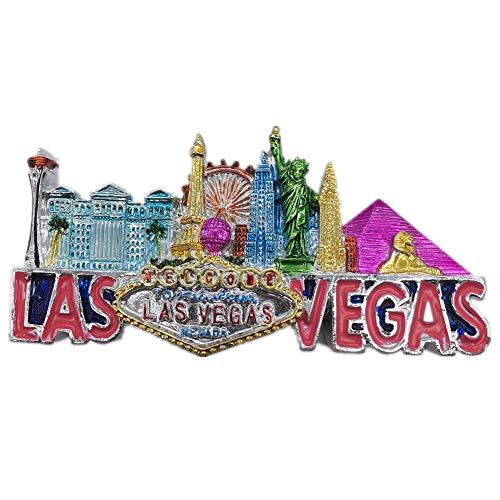 Las Vegas Amerika USA Kühlschrankmagnet 3D Harz Handgemachte Handwerk Touristische Reise Stadt Souvenir Sammlung Brief Kühlschrank Aufkleber