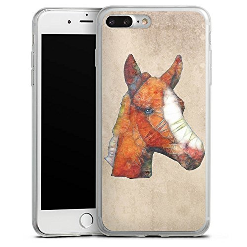 Apple iPhone 8 Slim Case Silikon Hülle Schutzhülle Pferd Fohlen Ponny Silikon Slim Case transparent