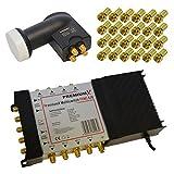 Multischalter PremiumX PXMS-5/8 Multiswitch 5/8 mit Netzteil 1x...