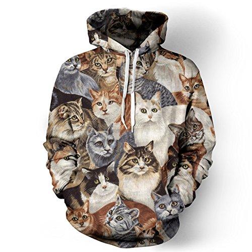 Unisex Frauen/Männer Mode Thundercat Sweatshirts Blitz Donner/cat Jacke Winter Harajuku 3d-Kapuzen-sweatshirt, A2, M (Und Blitz Halloween-donner)