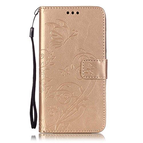 Meet de Case pour Huawei G Play Mini/ Honor 4C(5,0 Zoll), papillon print Folio Wallet flip étui en cuir / Pouch / Case / Holster / Wallet / Case pour Huawei G Play Mini/ Honor 4C(5,0 Zoll) PU Housse / pourpre