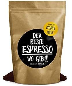 DER BESTE ESPRESSO WO GIBT! | 250g (gemahlen) | Premium Bio Espresso | Fairtrade & Organic | Perfekte Crema - vollmundig im Geschmack - FRISCHE RÖSTUNG